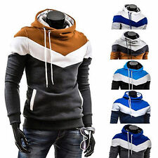 Mens Winter Slim Pullover Warm Hoodie Sweatshirt Hooded Coat Sweater Outwear Top