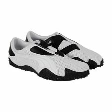 Puma Mostro Perf Mens White Leather Strap Slip On Sneakers Shoes