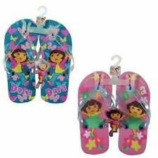 1 Pairs Flip Flops Beach Sandal Dora The Explorer Kids Girls Size 5/6 - 7/8 NEW