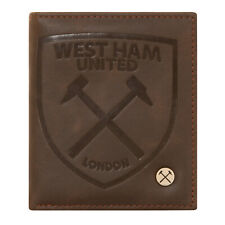 West Ham United FC Official Soccer Gift Luxury Brown Faux Leather Wallet