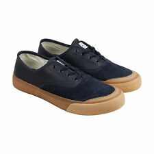 HUF Cromer Mens Blue Leather Lace Up Lace Up Sneakers Shoes