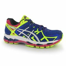 Asics Gel Kayano 21 Running Shoes Womens Blue/Wht/Yel Trainers Sneakers