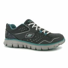 Skechers Synergy Modern Movement Trainers Womens Char/Aqua Sneakers Sports Shoes