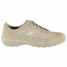 Skechers Active Trainers Womens Taupe Sneakers Sports Shoes Footwear