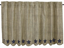Prim Country Star Applique Tiers, Navy Stars on Khaki, Vincent Tiers, Two Sizes