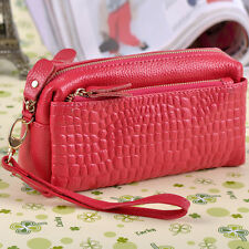 Genuine Leather Wristlet Wallet Small Clutch Wallets Coin  Purse Messenger Bag