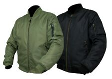 ARMR Motorcycle Bomber Jacket, Aramid Protection & C.E Armour, Waterproof, Olive