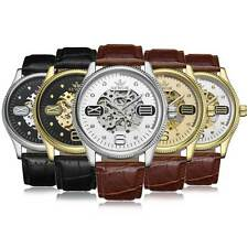 Luxury Mechanical Automatic Wrist Watch Skeleton Dial Sports Mens Ladies Gift