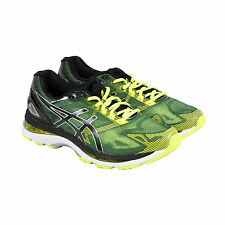 Asics Gel-Nimbus 19 Mens Black Yellow Mesh Athletic Lace Up Running Shoes