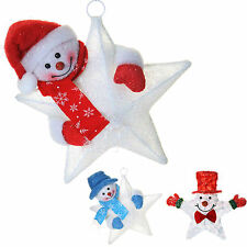 Pre Lit Window Star Christmas Snowman Decoration Colour Changing Warm White