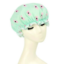 Polyester PEVA Dual Layer Bow Waterproof Shower Bath Salon Hair Cap Hat