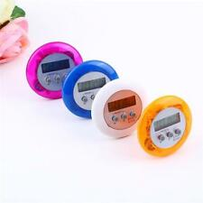 New Cute Mini Round LCD Digital Cooking Home Kitchen Countdown UP Timer Alarm Su