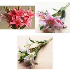 Simulation 6-Head Flowers Lily Artificial Plant Home Wedding Home Decor 3 Colors