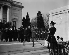 President Franklin D. Roosevelt at Tomb of Unknown Soldier Arlington Photo Print