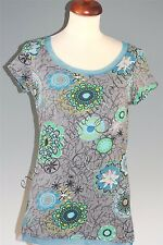 LA REDOUTE Short sleeve floral print stretch cotton TOP  T-Shirt  all sizes
