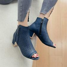 Womens Roman Gladiator Sandals peep Toe Summer Ankle Boots hollow breath Shoes
