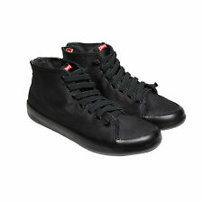 Camper Andratx Mens Black Canvas High Top Lace Up Sneakers Shoes
