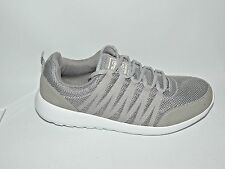 NEW CROSS HATCH LIGHTWEIGHT GREY TEXTILE LACE UP TRAINERS