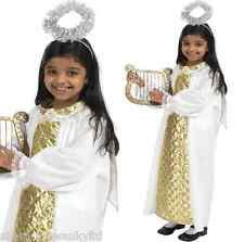 Girls Boys Childs Angel Gabriel Christmas Nativity Fancy Dress Costume Outfit