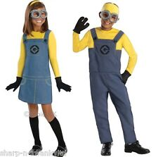 Boys Girls Child's Despicable Me Minion Halloween Fancy Dress Costume Outfit