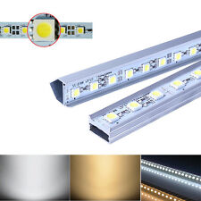 10PCS 0.5M 5050 36LED Rigid Light Bar Strip White Warm White + U V Groove Shell