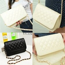 New Small Fragrant Wind Women Shoulder Diagonal Package Lingge Chain Bag HT