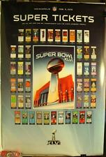 "Super Bowl XLVI New York Giants Super Tickets 36 x 24"" Poster New NFL"