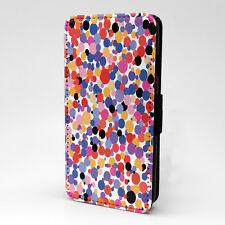 Polka Dots Print Design Pattern Flip Case Cover For Sony Xperia - P322