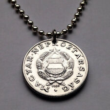 Hungary 1 forint coin pendant Hungarian Socialist Workers Party shield n001287