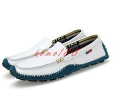 Mens plus Size slip on Loafers Driving Casual shoes moccasin gommino flat comfy