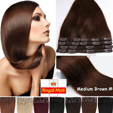 Clip In Remy Human Hair Extensions Full Head Real Human Hair 110g Any Color A495