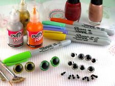 12 PAIR 14mm, 15mm, 16mm Safety Eyes CLEAR  Craft Eyes, Sew, Crochet, Anime PE-1