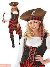 Ladies Pirate Girl Costume Womens Captain Buccaneer Wench Fancy Dress Outfit