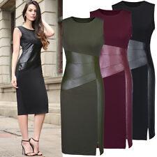 Womens Sleeveless Work Office Evening Cocktail Formal Party Slim Pencil Dress