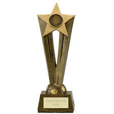 """FOOTBALL Soccer Star Trophy 7.75"""" or 8.75"""" FREE ENGRAVING Personalised Award NEW"""