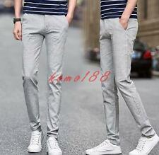 Summer breath Mens pants linen cotton straight leg breath casual trousers
