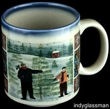 "Otagiri Folk Art COUNTRY CHRISTMAS 4"" Coffee Mug (3 left)"