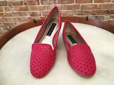 Steve Madden Kappa Red Leather Perforated Smoking Loafer NEW
