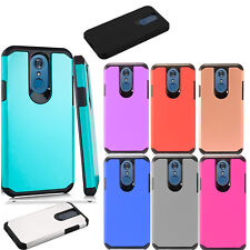For LG Stylo 3 Rugged Rubber SILICONE Soft Gel Skin Case Cover +Screen Protector