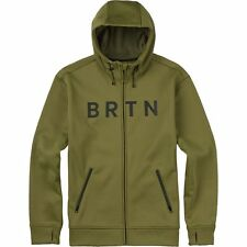 2016 NWT MENS BURTON BONDED FULL-ZIP LITE HOODIE $90 Olive Branch/Green DWR coat