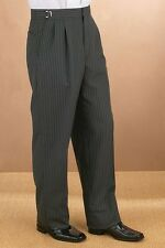New Mens Hickory Stripe Morning Trousers Formal Wedding Victorian Dickens Pants
