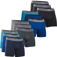 "Under Armour Mens Charged Cotton 6"" Boxer Jock Sports Underwear Briefs 3-Pack"
