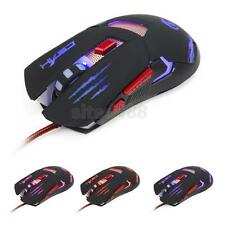 3200 DPI LED Optical USB Wired Gaming Mouse Mice for Laptop Gamer Backlight