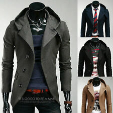 Tops Stylish Mens Slim Fit Designed Hooded Cardigan Coat Jacket Korean Outwear /