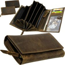 L&B Women's Wallet Vintage Leather Brown - Tan Purse Purse wallet