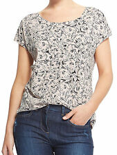 New Marks & Spencer M&S Ladies Pink Poppy Sketch T shirt Top 18-24