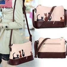 Women Cat Rabbit Zip Leather Shoulder Bag Cross Body Purse Handbag Messenger US