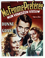 Cary Grant Irene Dunne Gail Patrick My Favorite Wife Poster or Photo French