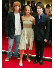 Harry Potter Color Poster or Photo Candid Radcliffe Watson Grint at Premiere