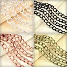2m 6.56feet Unfinished Double Curb Chain Bulk Necklace Jewelry Findings HC